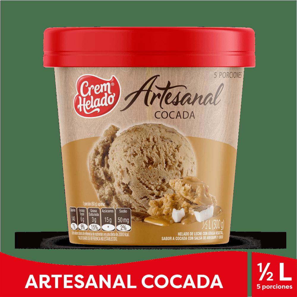 Helado Crem Helado Cocada Arequipe 1/2 Litro/300 G