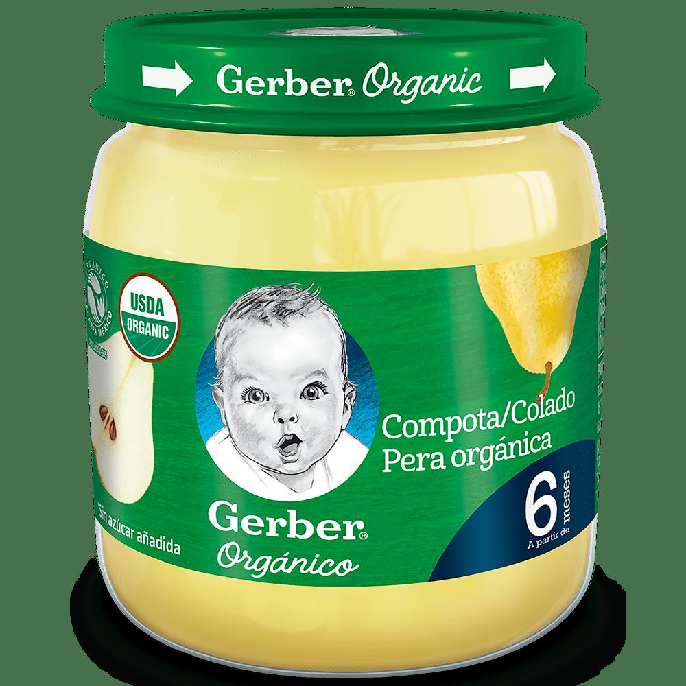 Compota Gerber Orgánico Pera 113 G