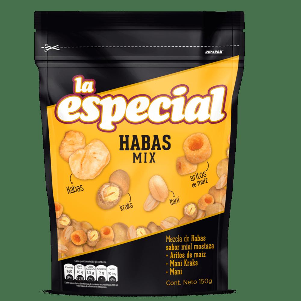 Habas Mix La Especial Con Maní Doypack 150 G