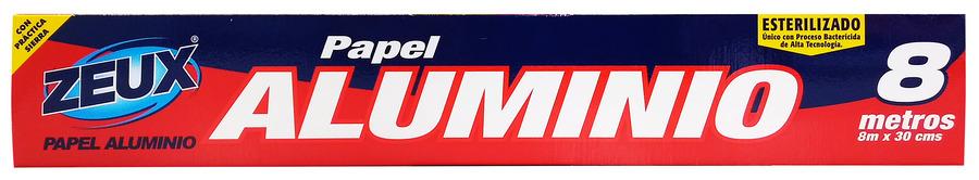 Papel Aluminio Zeux Caja 8 Mts