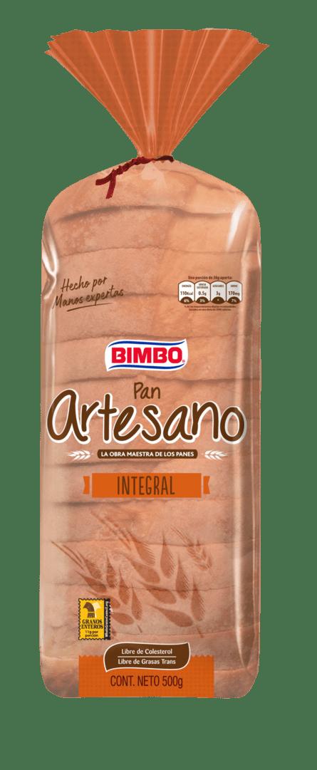 Pan Bimbo Artesano Integral 500 G