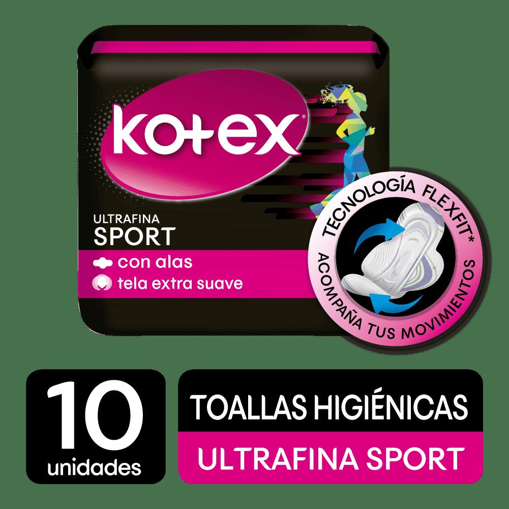 Toallas HigiNicas Kotex Fitness Ultrafina 10 Und