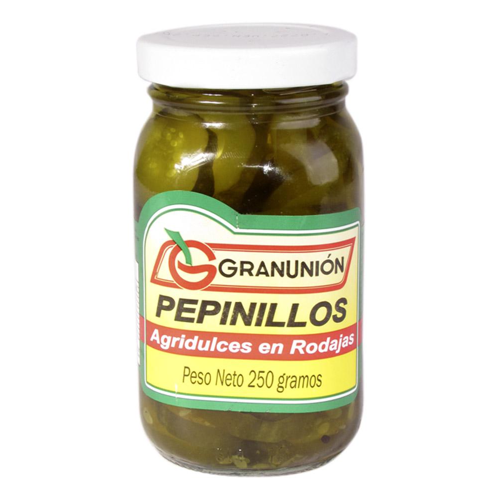 Pepinillos Granunión Rodajas Agridulce 250 G