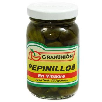 Pepinillos Granunión Enteros En Vinagre 250 G