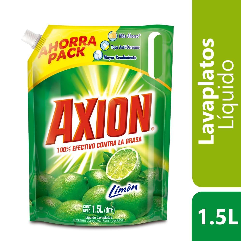 Lavaplatos Axión Limon Líquido Doypack 1500 Ml