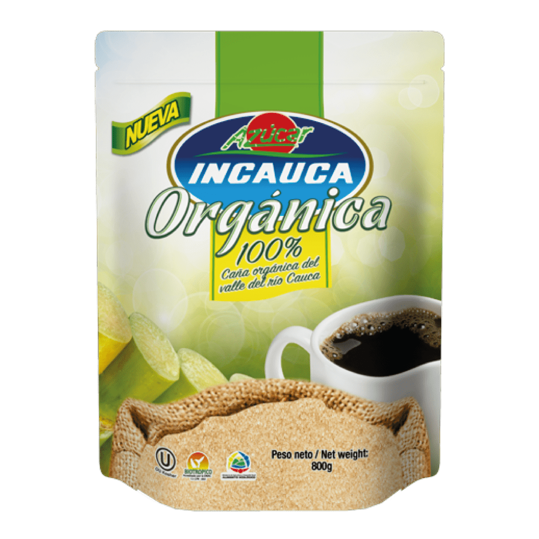 Azúcar  Incauca Orgánica 100% 800 G