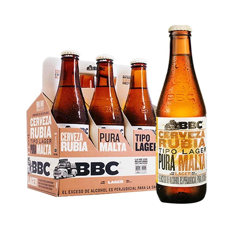 Cerveza Bbc Lager Botella 6 X330 Ml
