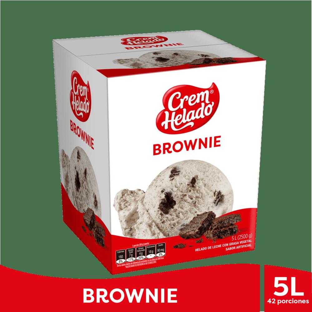 Helado Crem Helado Brownie 5 Litros/2500 G