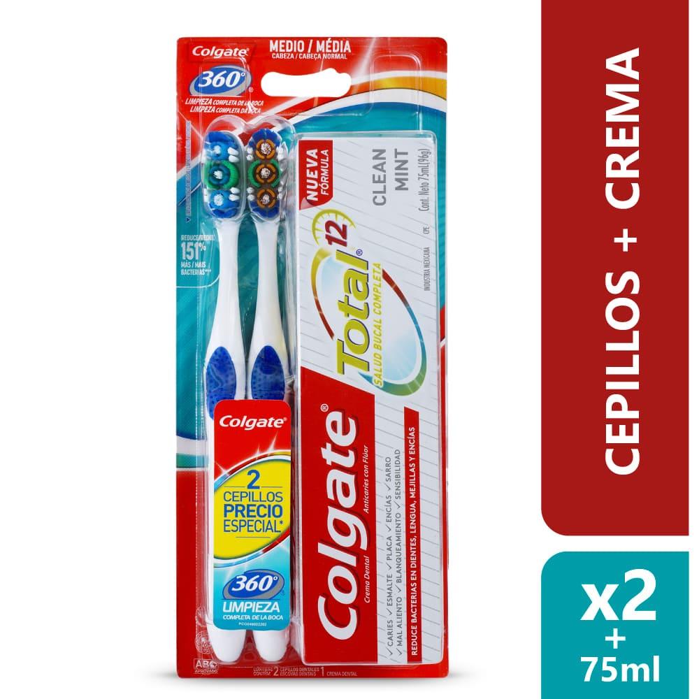 Cepillo Colgate X2 + Crema Total *75Ml Precio Especi