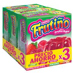 Gelatina Frutiño 3X40 G Limón-Fresa-Frutos Rojos
