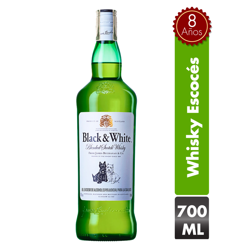 Whisky Black & White 8 Años 700 Ml