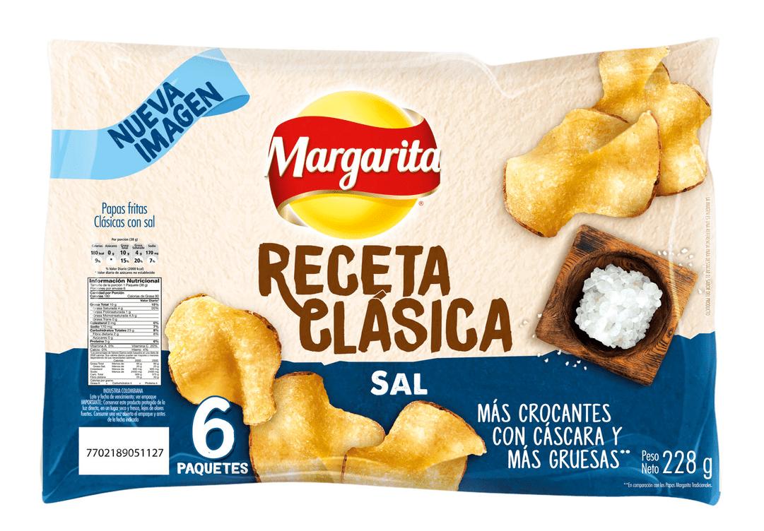 Papas Margarita Receta Clásica X6 Natural 228 G