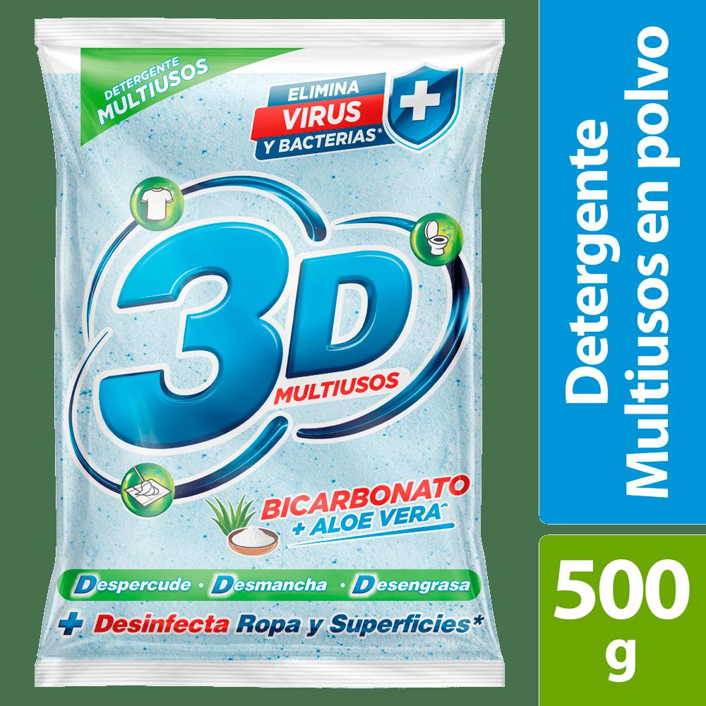 Detergente 3D Multiusos Bicarbonato + Aloe 500 G
