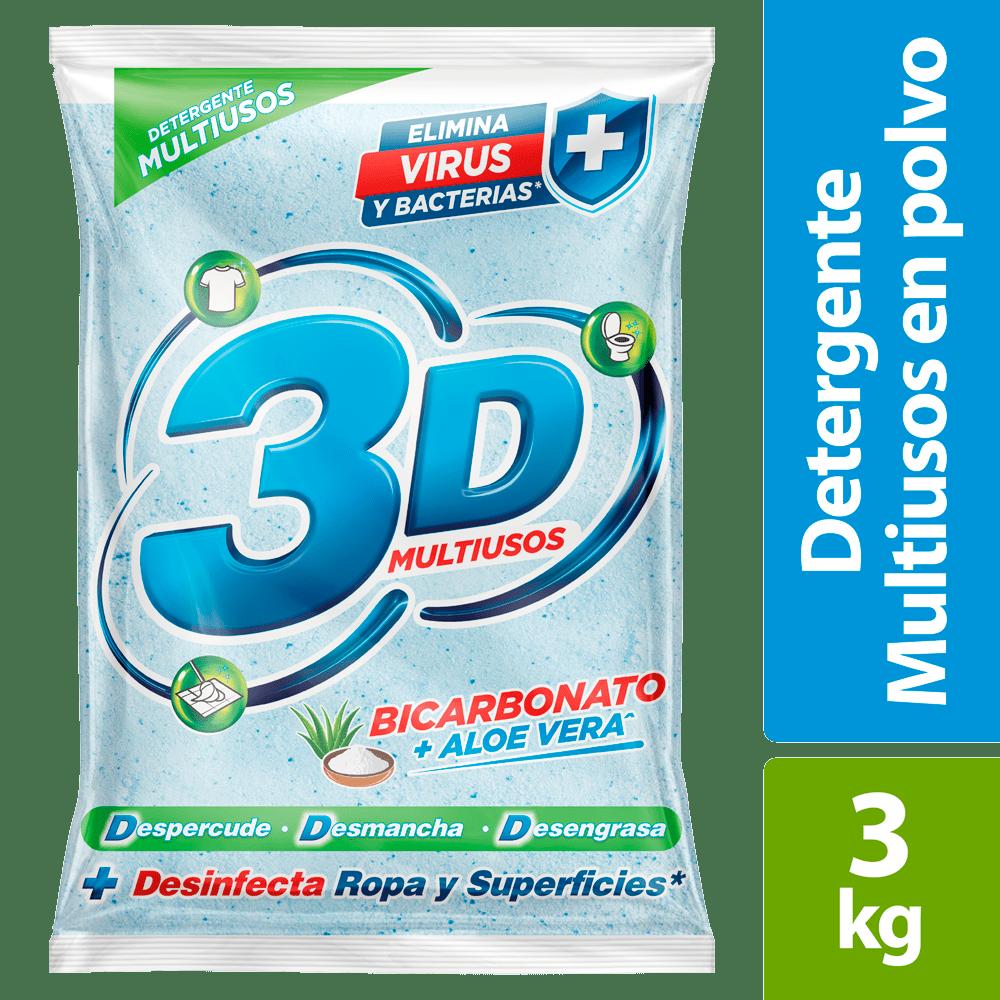 Detergente 3D Multiusos Bicarbonato + Aloe 3000 G