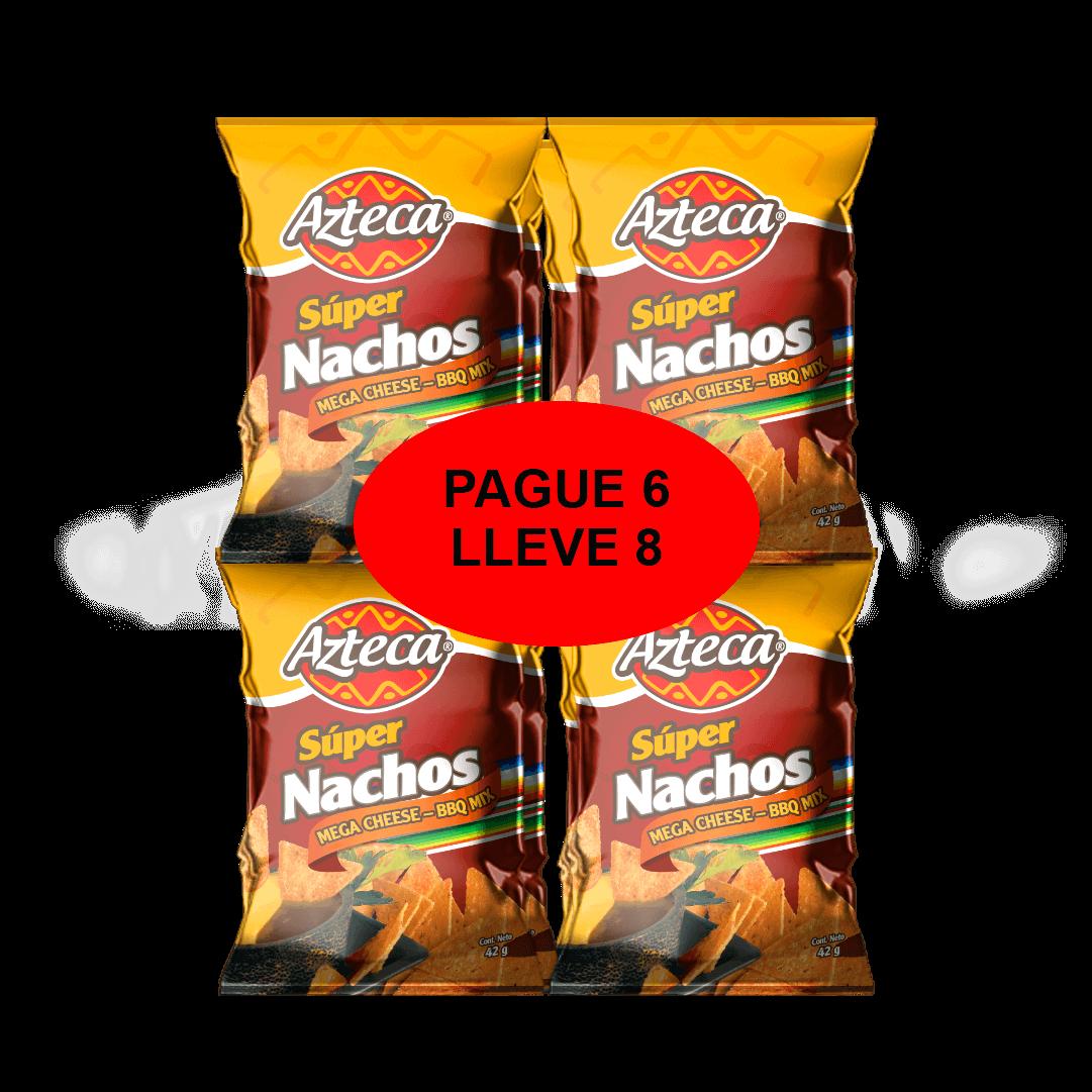 Súper Nachos Azteca Bbq P6 Ll8 252 G