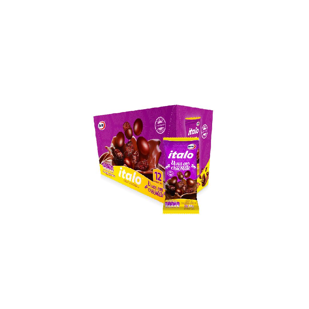 Uvas Pasas Italo Con Chocolate 30G Und