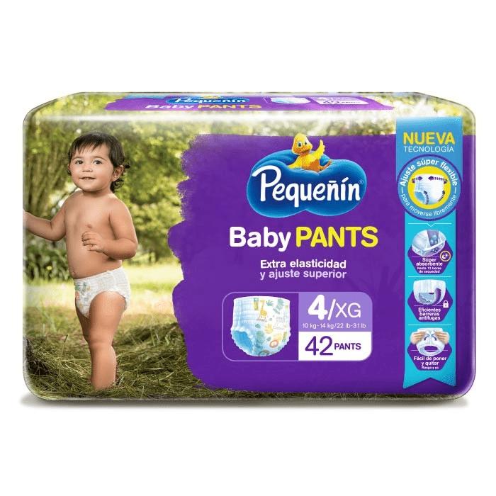 Pañal Pequeñín Baby Pants Et 4 X 42 Und