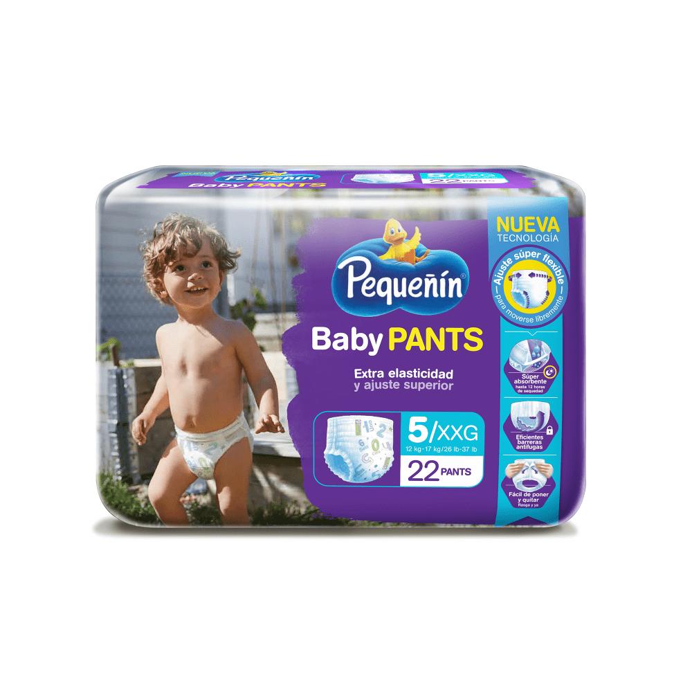 Pañal Pequeñín Baby Pants Et 5 X 22 Und