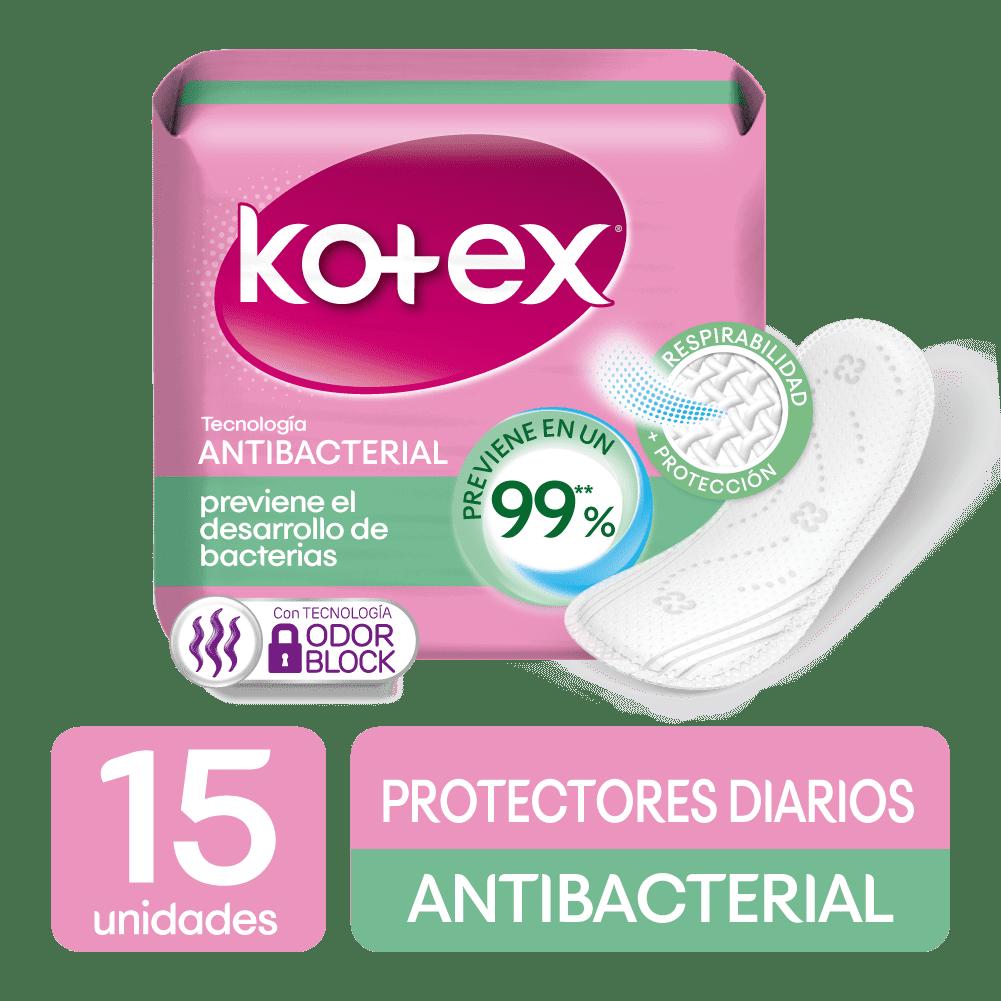 Protector Kotex Diarios Antibacterial 15 Und
