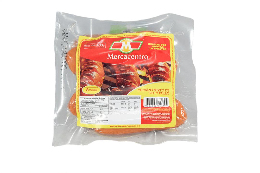Chorizo Res Mercacentro 400 G