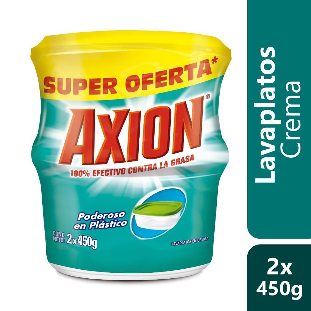 Lavaplatos Axión Poderoso En Plásticos 2X450 G $Esp