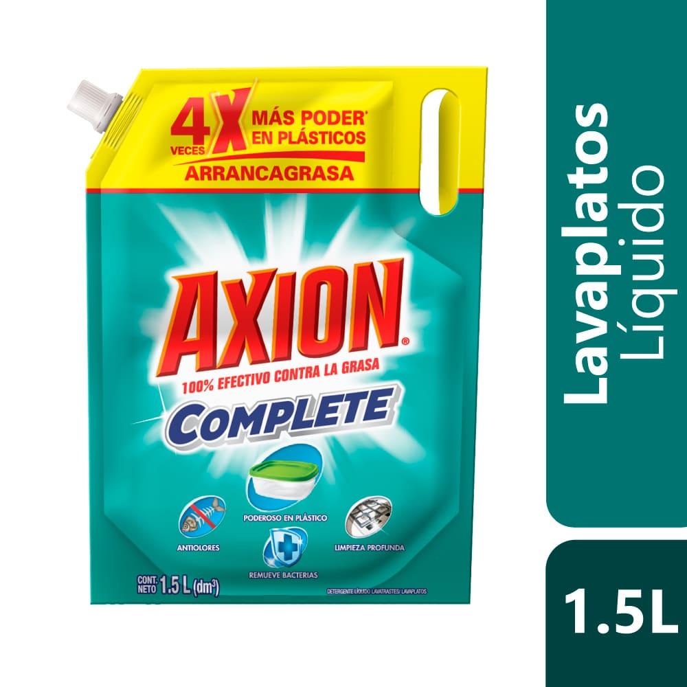 Lavaplatos Axión Complete Plásticos Líquido Doypack 1500 Ml