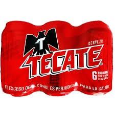 Cerveza Tecate  Lata Sixpack X 355 Ml C/U