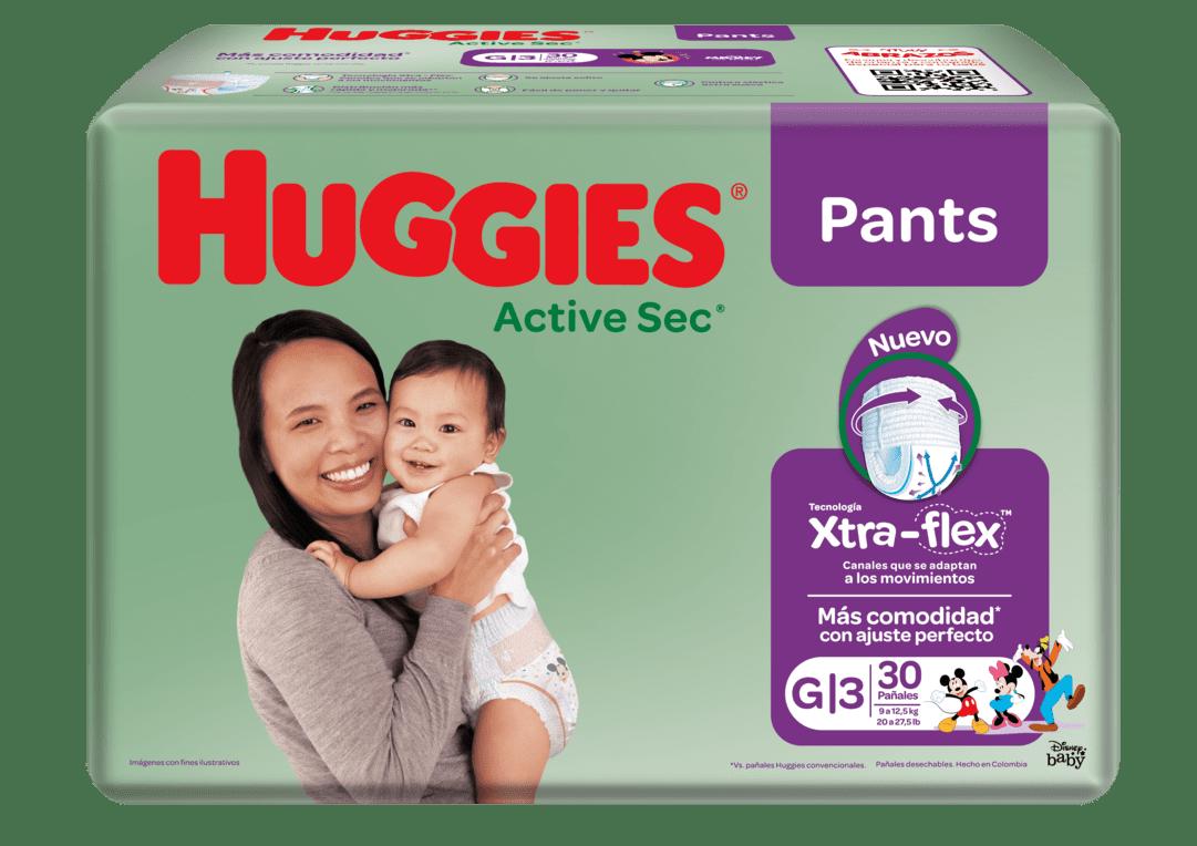 Pañal Huggies Active Sec Pant G Ajustables 30 Und