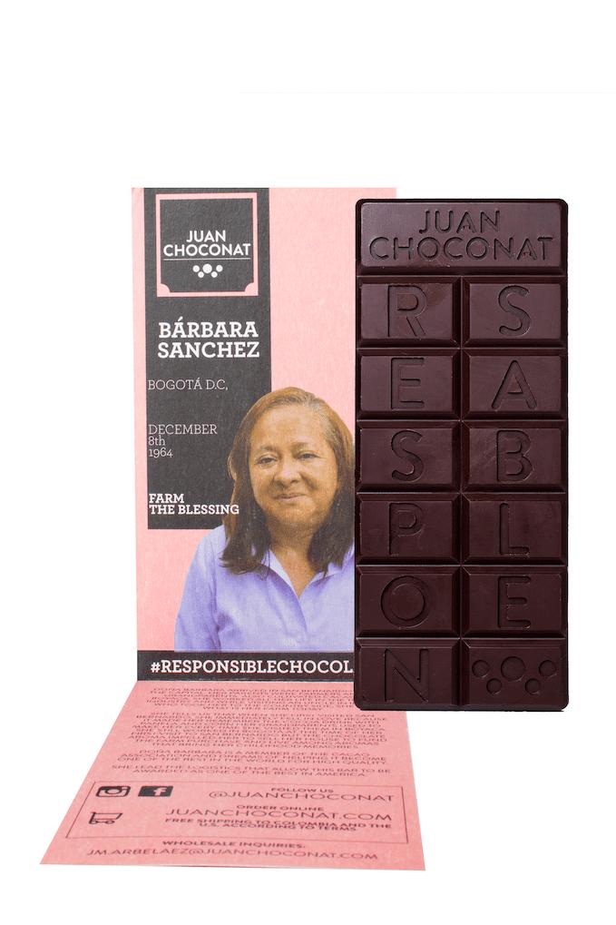 Chocolatina Juan Choconat Sin Tostar Choc. Oscuro 65 G