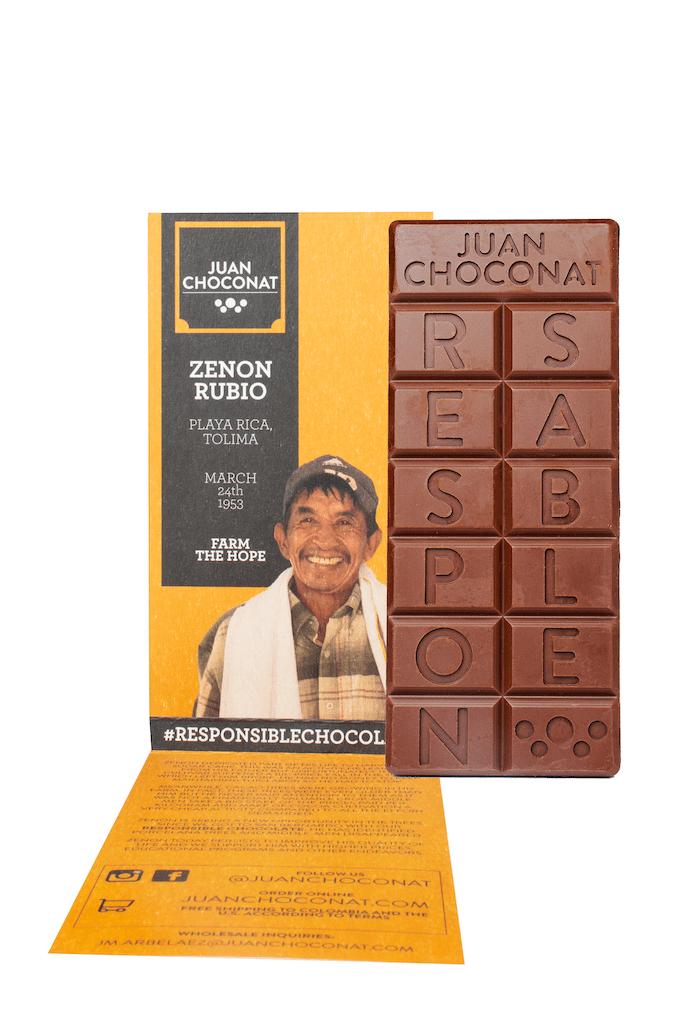 Chocolatina Juan Choconat Naranja Leche 65 G