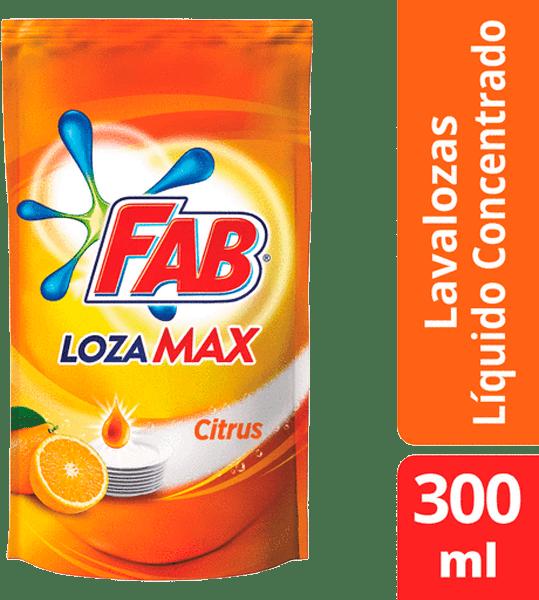 Lavaplatos Fab Lozamax Citrus Líquido Doypack 300 Ml