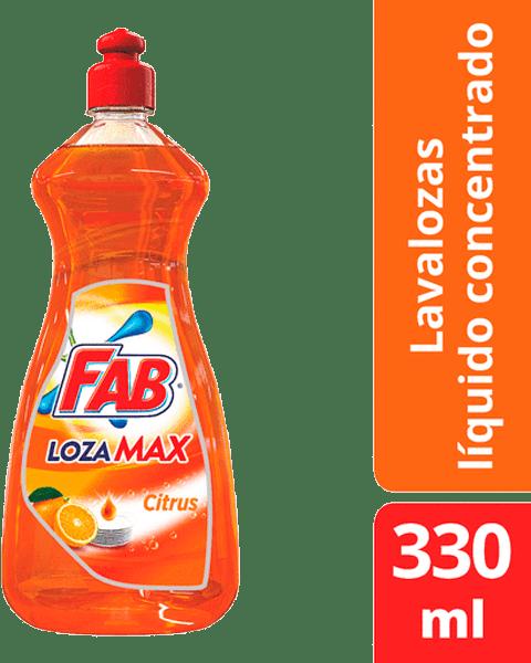 Lavaplatos Fab Lozamax Citrus Líquido Botella 330 Ml