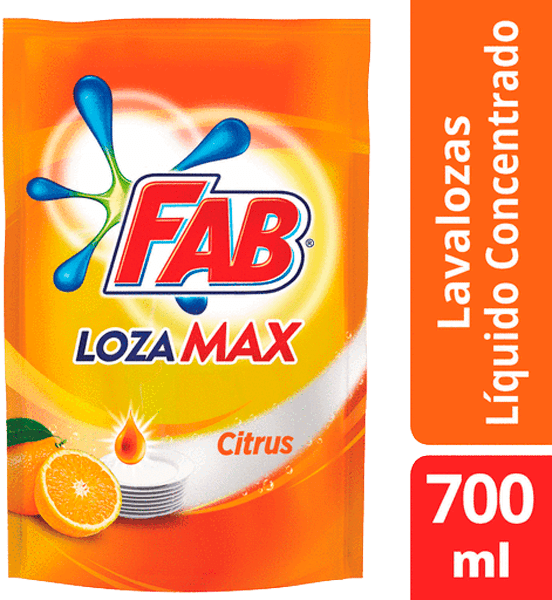 Lavaplatos Fab Lozamax Citrus Líquido Doypack 700 Ml