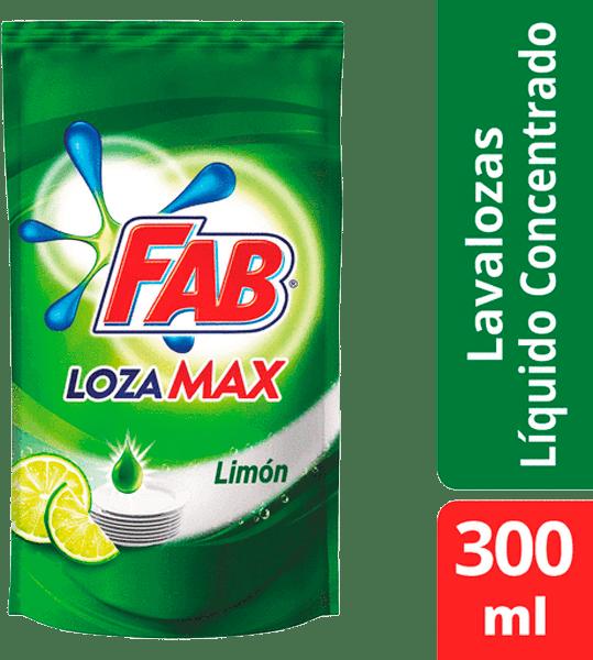 Lavaplatos Fab Lozamax Limón Líquido Doypack 300 Ml