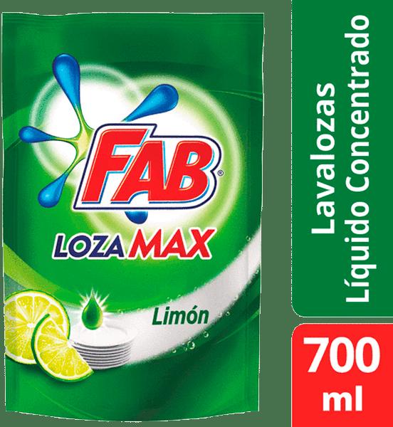 Lavaplatos Fab Lozamax Limón Líquido Doypack 700 Ml
