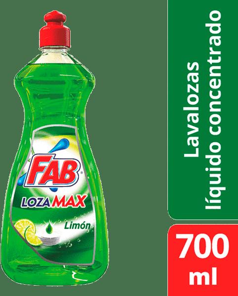 Lavaplatos Fab Lozamax Limón Líquido Botella 700 Ml