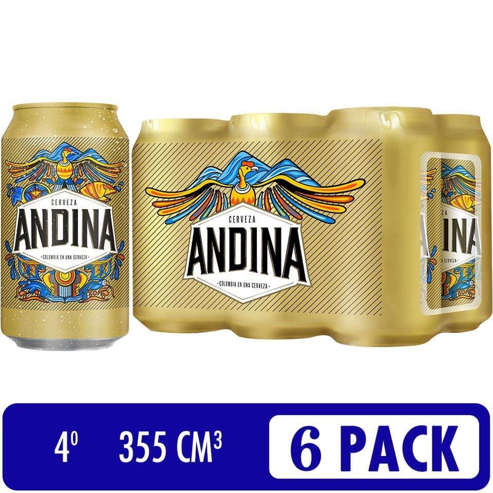 Cerveza Andina Lata Sixpack X 355 Ml C/U