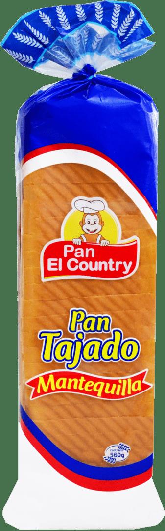 Pan El Country Mantequilla Tajado 560 G