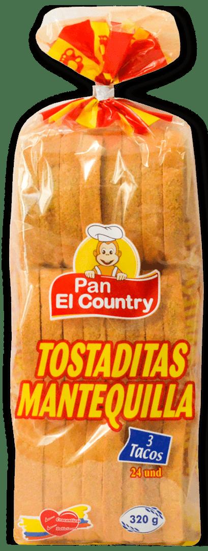 Tostadas El Country Mantequilla 320 G