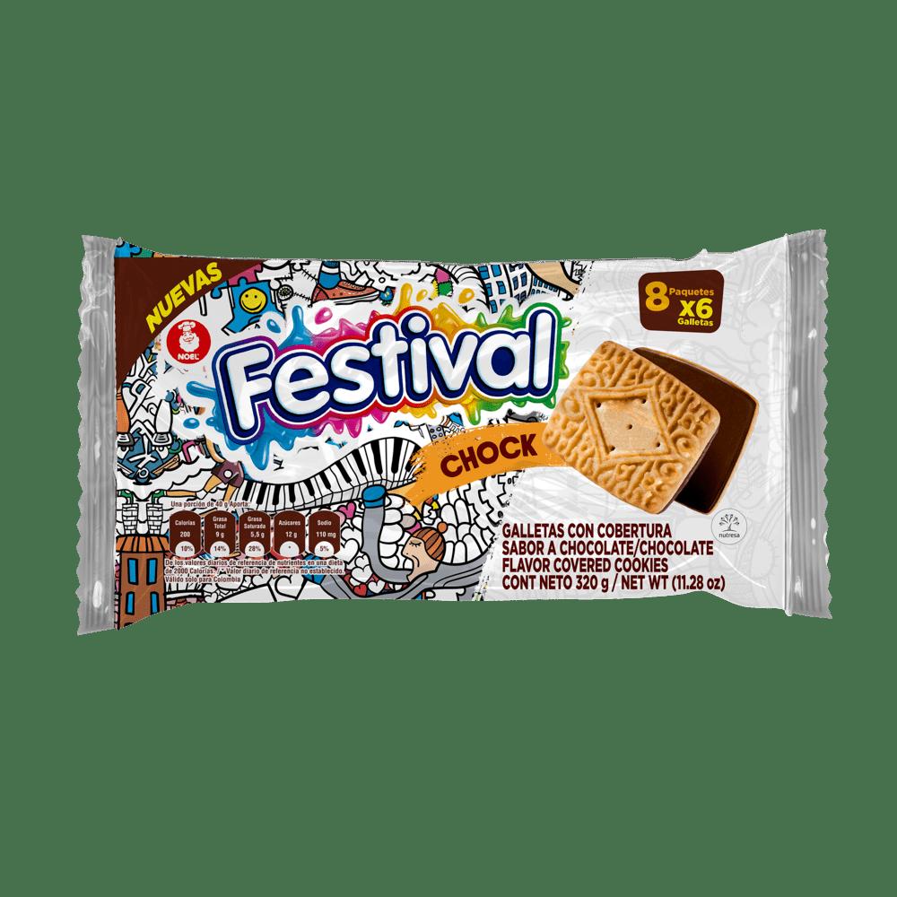 Galleta Festival X 8 Paq Chock 320 G