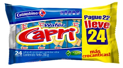 Galletas Capri Lonchera Pague 22 Lleve 24 Metalizada 264 G