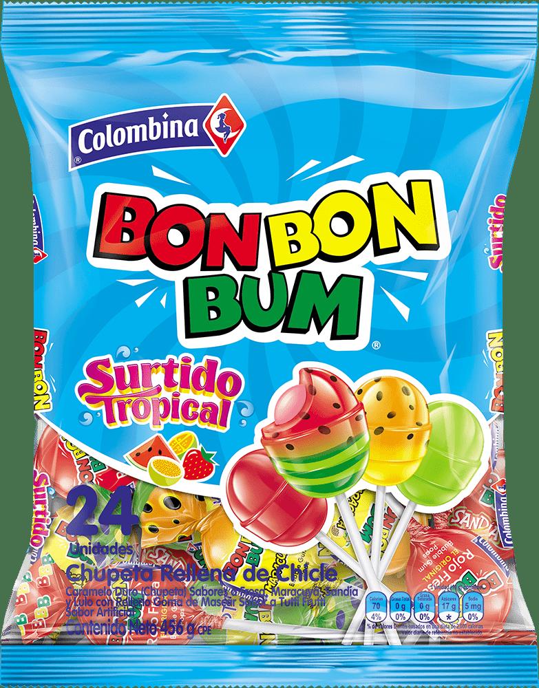 Dulce Bon Bon Bum X24 Und Surtido Tropical 456 G