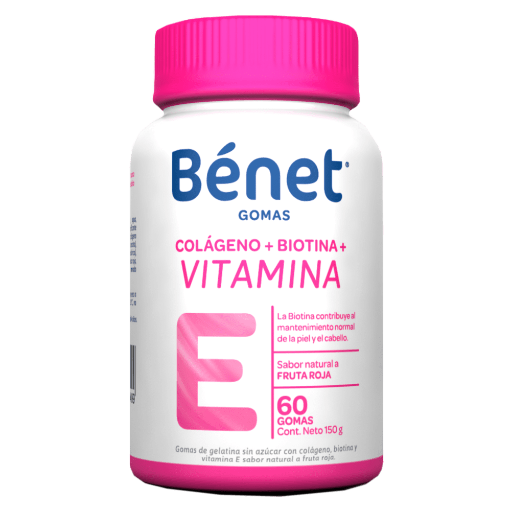 Benet Gomas Biotina Vitamina E Colágeno 114 G