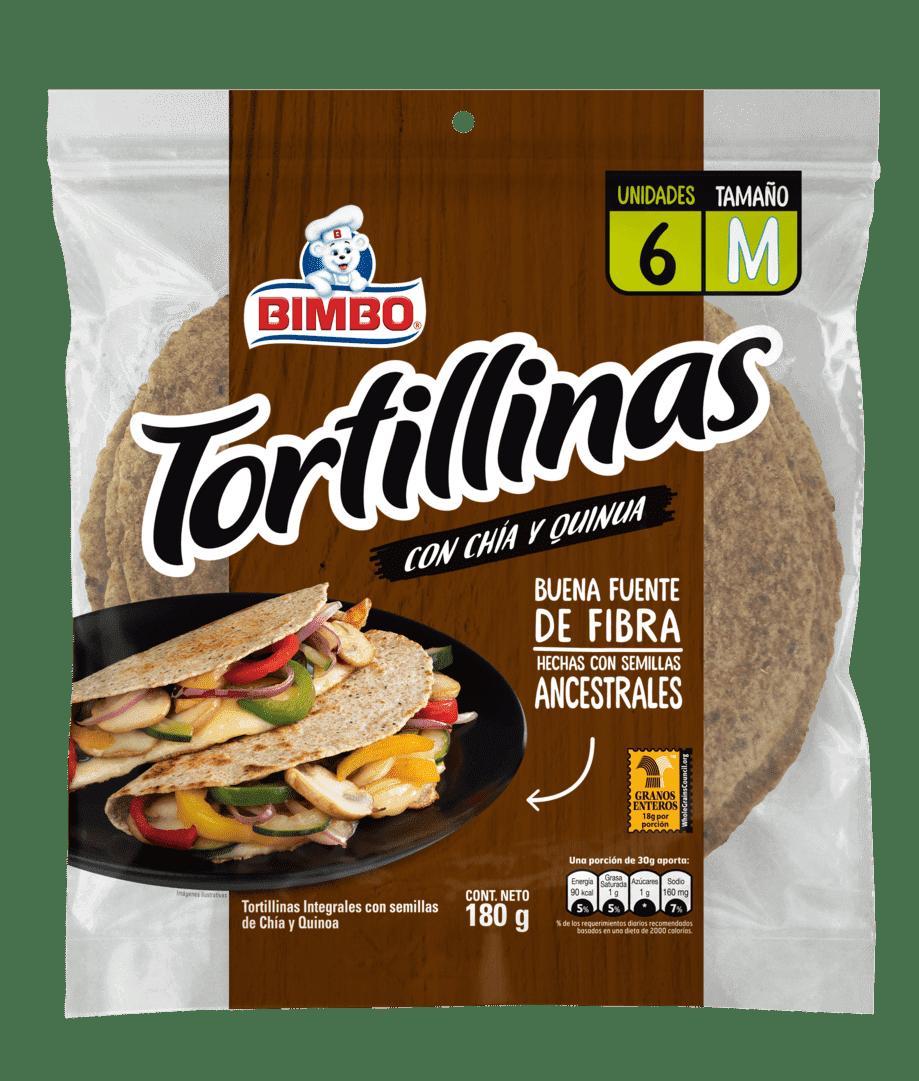 Tortillas Bimbo Chia Quinua X6 Und 180 G