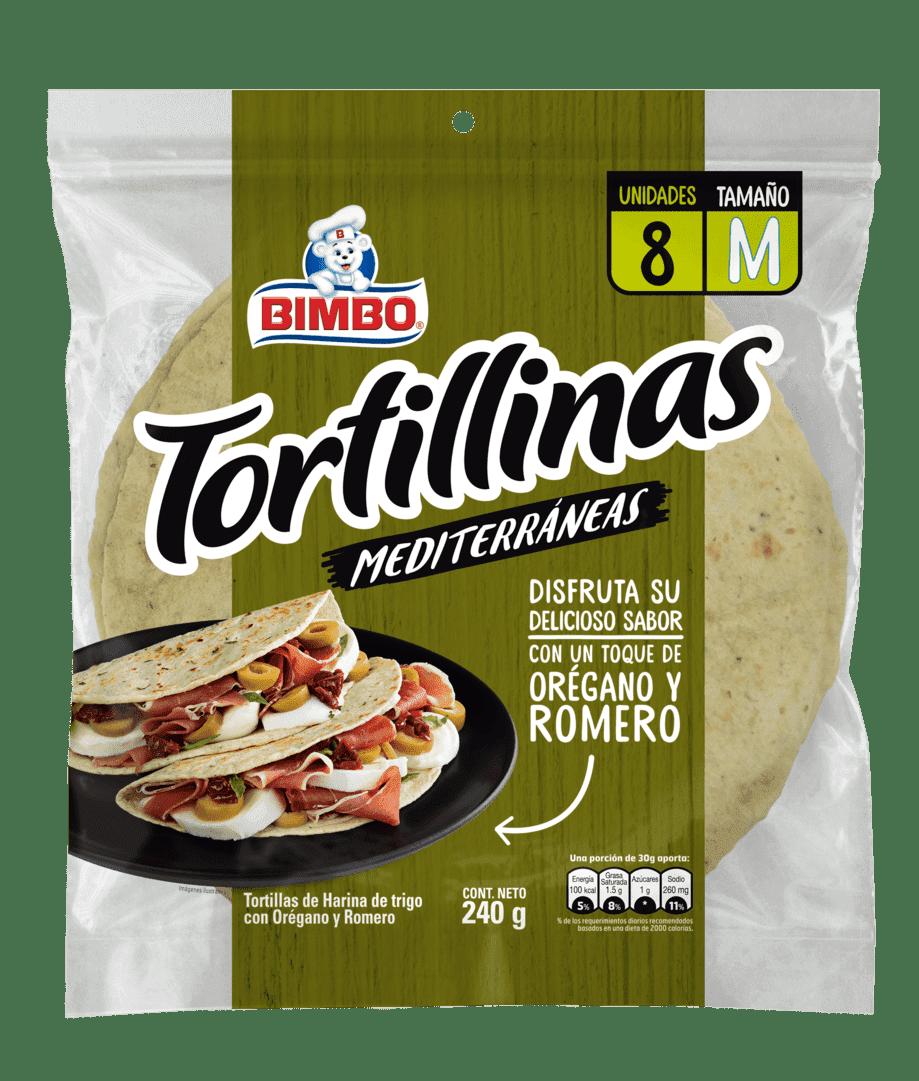 Tortillas Bimbo Romero Orégano X8 Und 240 G