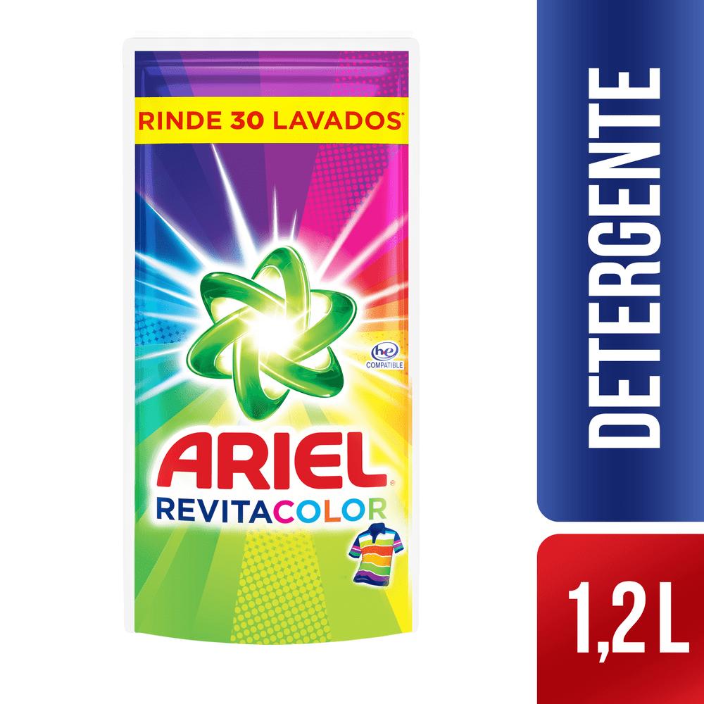 Detergente Ariel Líquido 1200 Ml Revitacolor
