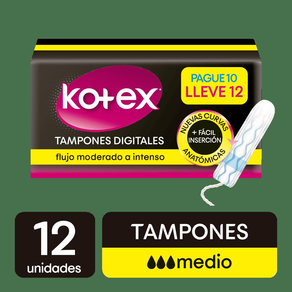 Tampon Kotex Digital Medio 12 Und