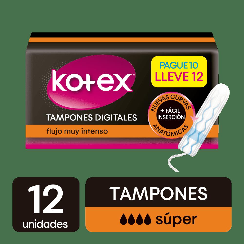 Tampon Kotex Digital Súper 12 Und