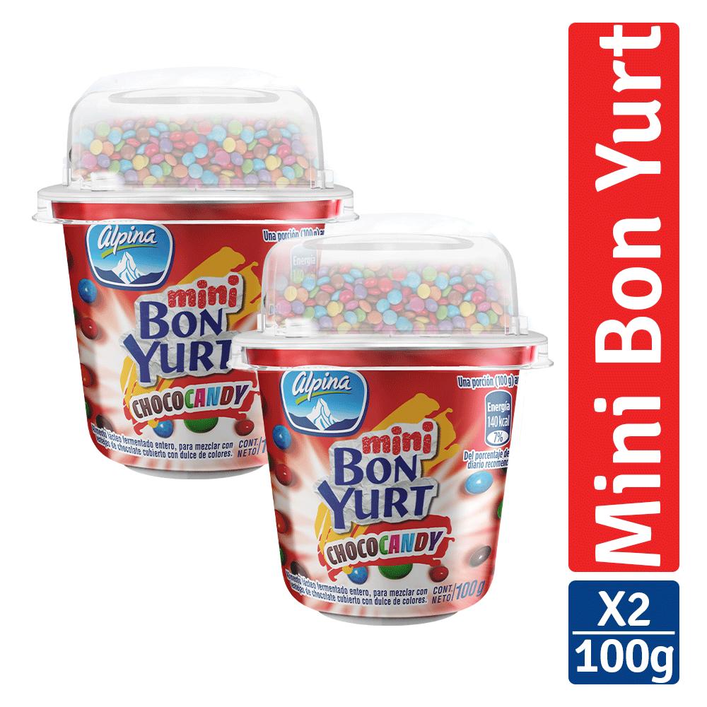 Multiempaque X2 Und Mini Bon Yurt Choco Candy 100G