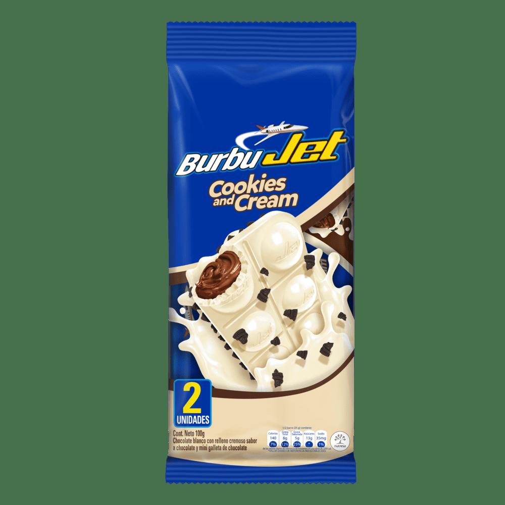 Chocolatina Burbujet Cookies & Cream X2 Und 100 G